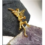 Gold Plated Bailed 3D Gargoyle Pendant - CLOSEOUT
