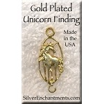 Gold Plated Unicorn Jewelry Finding - CLOSEOUT
