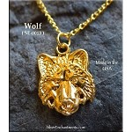 Gold Plated Wolf Charm-Pendant