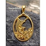 Gold Plated Swordfish Pendant - CLOSEOUT