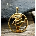 Gold Plated Dancing Bear Pendant - CLOSEOUT