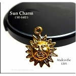 Gold Plated Sun Charm