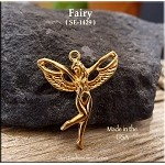 Gold Plated Fairy Pendant