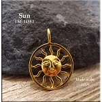 SOLDOUT - Gold Plated Ringed Sun Pendant