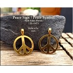 Gold Plated Peace Pendant, Bailed - CLOSEOUT