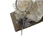 Dragonfly Key Ring, Dragonfly Animal Totem Spirit Guide Pagan Keychain, Dragonfly Keychain