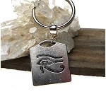 Eye of Ra Keyring, Double Sided Eye of Horus Key Chain, Utchat Egyptian Keychain Key Ring