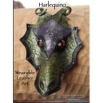 Leather Dragon Mask Pendant - HARLEQUINO