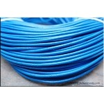 2mm Dark Robin Egg Blue Leather Cord, 10-feet