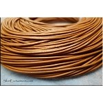 1.5mm Saddle Tan Leather Cord, 10-feet