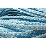 5mm Flat Braided Leather Cord by the Yard, SKY BLUE