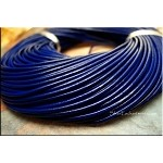 2mm Navy Leather Cord, Blue Leather, 10-feet