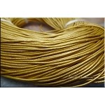1.5mm Metallic Gold Leather Cord, 10-feet