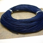 1mm Navy Leather Cord, 10-feet