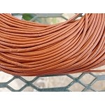 2mm Chestnut Brown Leather Cord, 10-feet