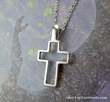 Bailed Cross Necklace - Everyday Silver Christian Jewelry