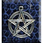 Sterling Silver Classic Pentacle Pendant, 25x21mm