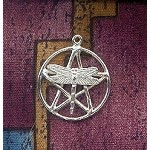 Sterling Silver Dragonfly Pentacle Charm