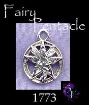 Sterling Silver Fairy Pentacle Charm, Pagan Jewelry