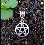 Pentacle Large Hole Dangle Charm Pendant  - Fits All European Add a Bead Jewelry