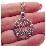 Lotus Pendant or Necklace