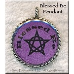 Blessed Be with Pentacle Pendant, Purple