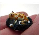Lampworked Frog Beads, Art Glass Frog Pendant Bead, 1pc