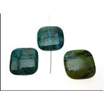 Chrysocolla Pendants, Chrysocolla Focal Pendant Beads, 25mm Square Pillow (1)