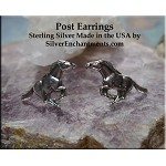 Sterling Silver Horse Earrings, Mustang Post Earrings, Horse Stud Earrings