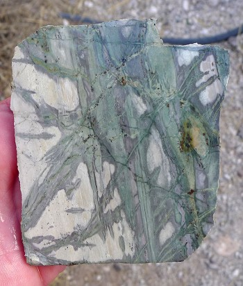 Green Picasso Jasper Slab, 94x85x6.5mm