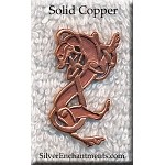 Solid Copper Celtic Greyhound Pendant, Raw Copper Casting