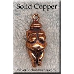Copper Venus of Willendorf Pendant, Fertility Goddess, Raw Copper Casting