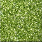 Super Duo Beads, Transparent OLIVINE, 10 grams Czech Glass Twin Hole Beads