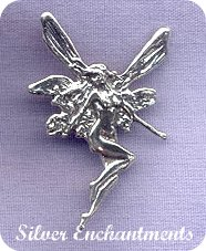 Sterling Silver Fairy Pendant with Hidden Bail