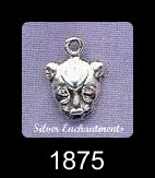 Sterling Silver Bast Charm, Small Sekhmet Necklace, Egyptian Cat Goddess Jewelry