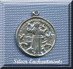 Sterling Silver Saint Francis of Assisi Medallion