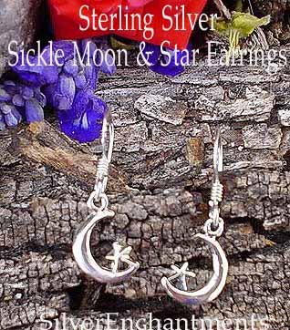 Sterling Silver Crescent Moon Earrings