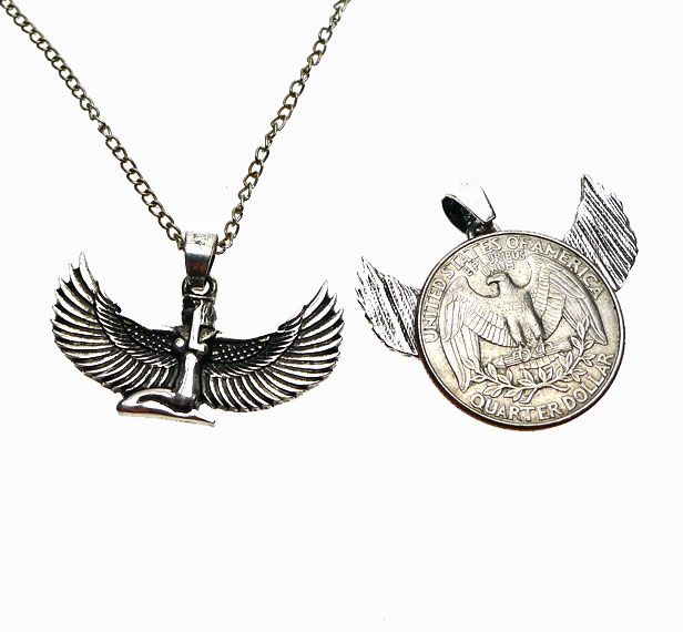 Silver Isis Pendant Egyptian Goddess Necklace Silver Enchantments