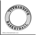 Sterling Silver BASKETBALL Affirmation Ring Necklace Charm