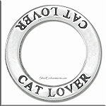 Sterling Silver CAT LOVER Affirmation Charm