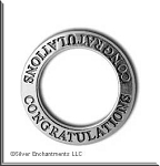 Sterling Silver CONGRATULATIONS Affirmation Charm
