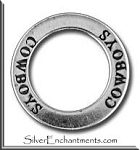 Sterling Silver COWBOYS Affirmation Charm