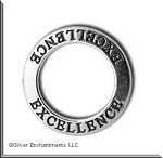 Sterling Silver EXCELLENCE Affirmation Charm