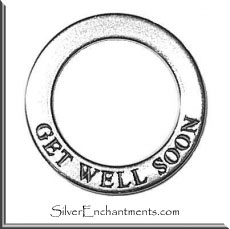 Sterling Silver GET WELL SOON Affirmation Charm