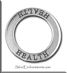 Sterling Silver HEALTH Charm, Health Affirmation Ring