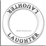 Sterling Silver LAUGHTER Charm, Laughter Affirmation Charm