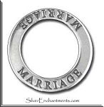 Sterling Silver MARRIAGE Affirmation Charm