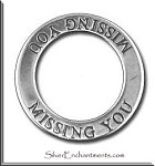 Sterling Silver Missing You Charm