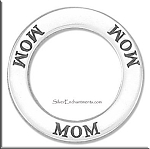 Sterling Silver MOM Affirmation Charm