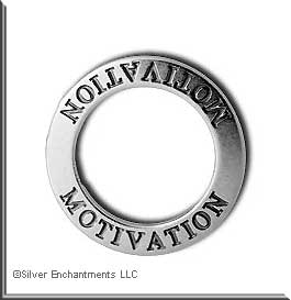 Sterling Silver MOTIVATION Affirmation Charm